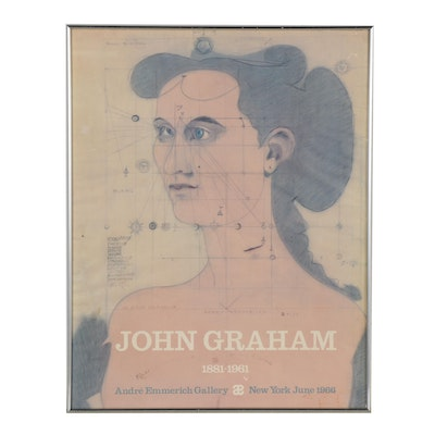 """Offset Lithograph Exhibition Poster for """"John Graham 1881- 1961"""""""