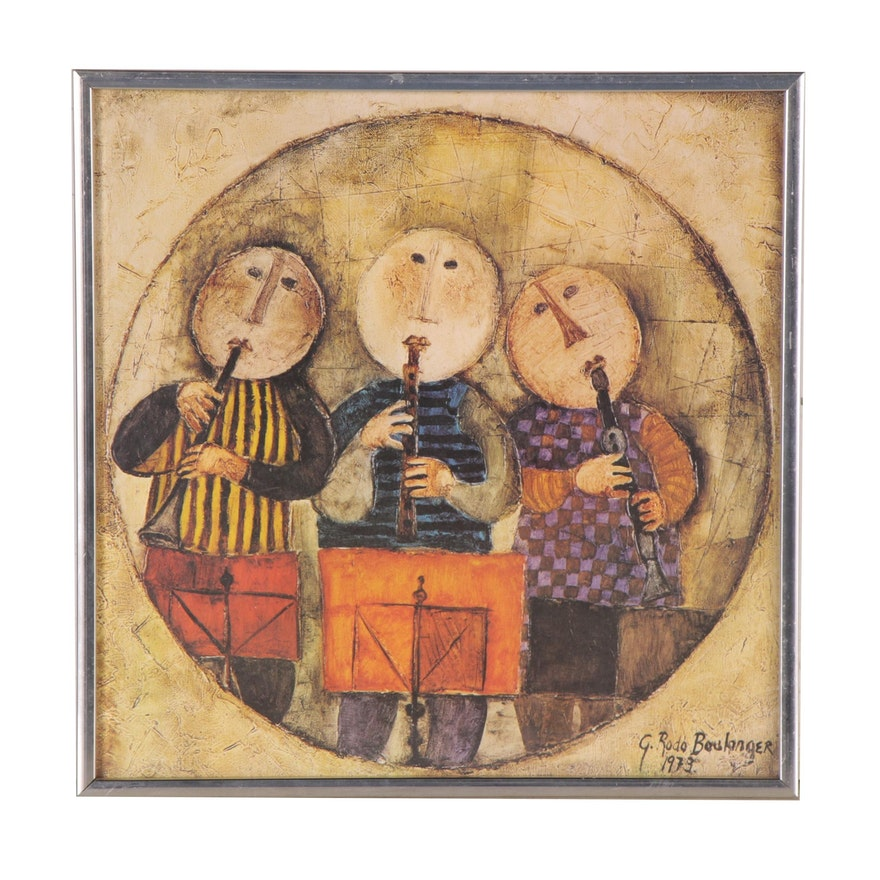 "Offset Lithograph after Graciela Rodo Boulanger ""Little Musicians"""