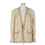 Chanel Tweed Jacket with Chain Link Trim from 2002 Spring Collection