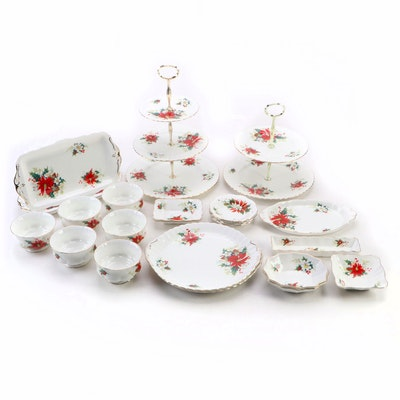 Royal Albert and Other Poinsettia Bone China Serveware and Tableware