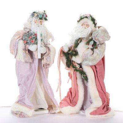 Illuminated and Animated Woodland Santa Claus Figurines