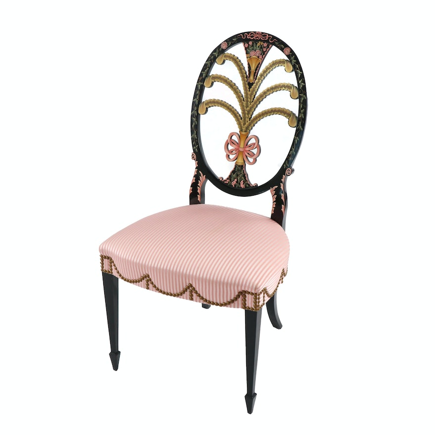 "Karges Furniture ""Albert and Edwin Collection"" Hand-Painted Side Chair"