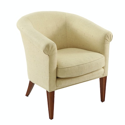 Baker Furniture Upholstered Tub Chair with Down-Filled Seat
