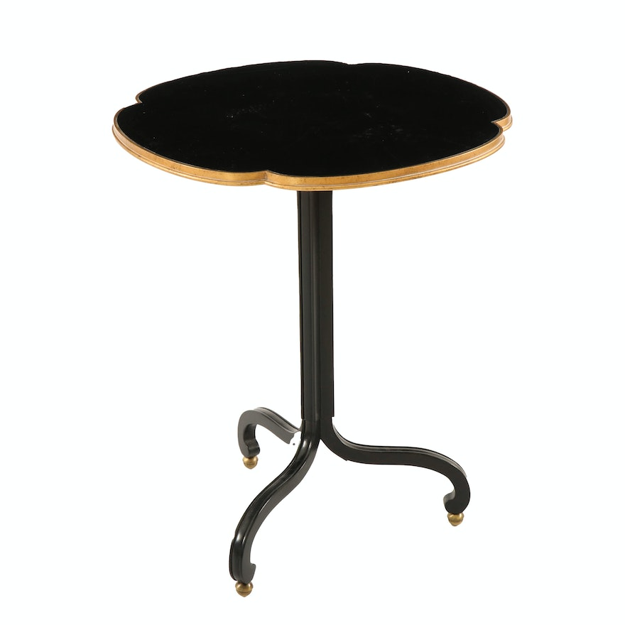 Baker Furniture Gilt and Lacquer Side Table