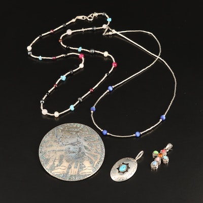 Sterling Jewelry with Turquoise, Rock Quartz Crystal Including Silpada Cross