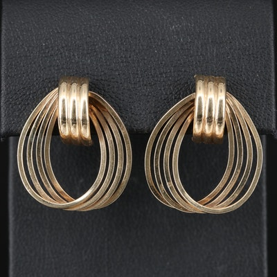 14K Multi-Hoop Earrings
