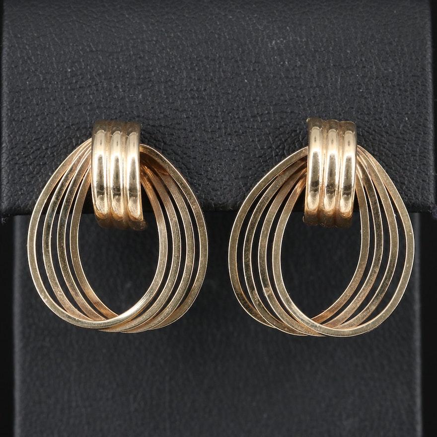 14K Multi-Hoop Earrings