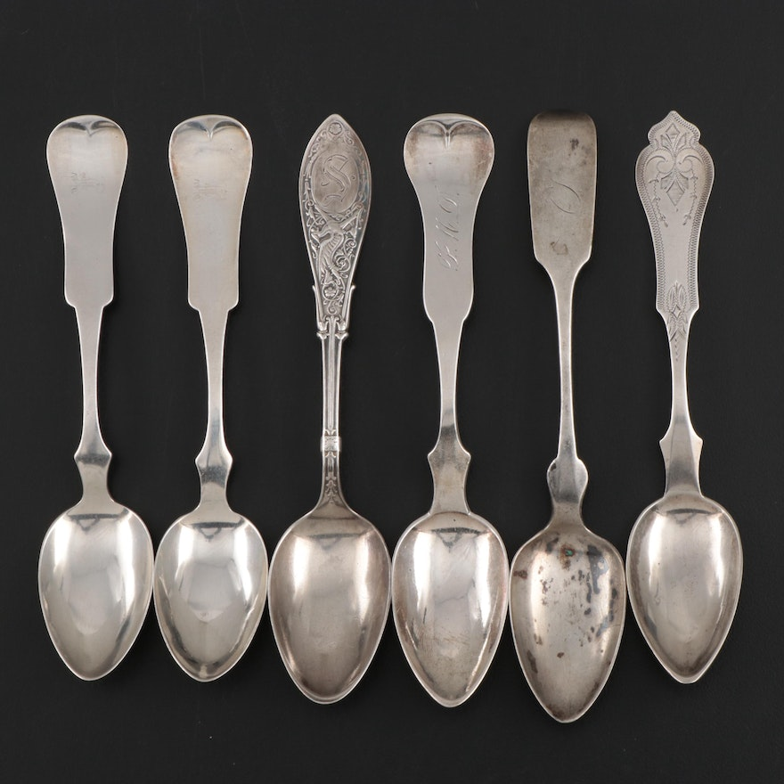 American Sterling Silver and 800 Silver Teaspoons