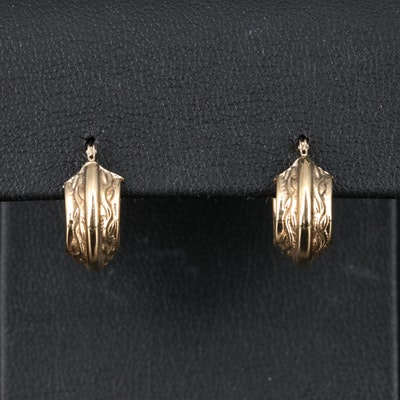 14K Huggie Earrings