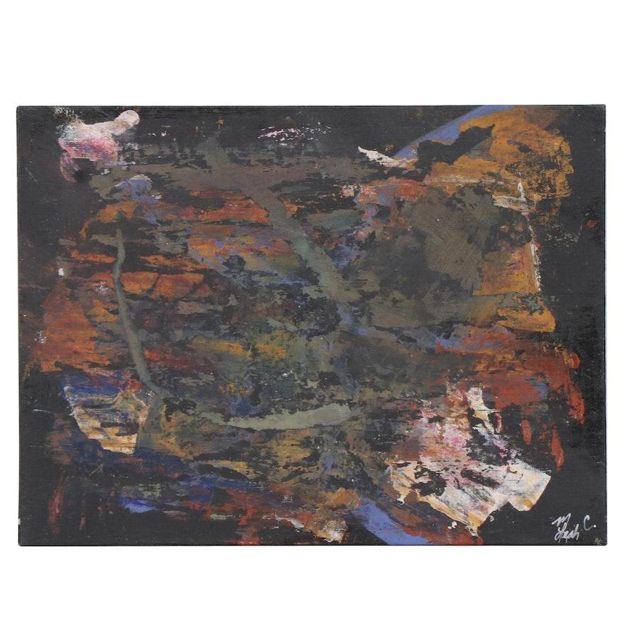 """MahLeah Cochran Abstract Acrylic Painting """"Humanity,"""" 2017"""