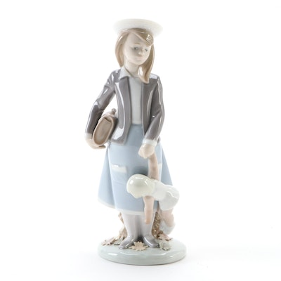 "Lladró ""Autumn Girl with Doll"" Porcelain Figurine, Late 20th Century"