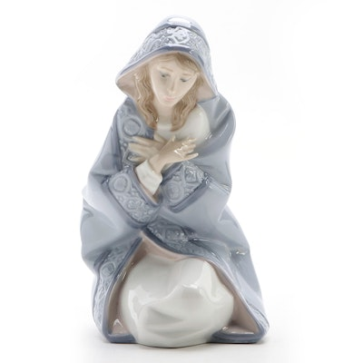 "Lladró ""Mary"" Porcelain Figurine Designed by Juan Huerta, Late 20th Century"