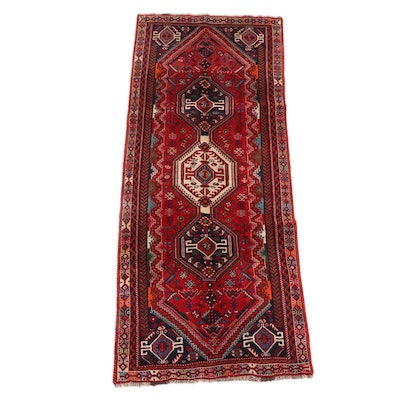 3'6 x 8'10 Hand-Knotted Persian Abadeh Wool Long Rug