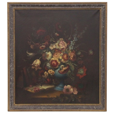Joseph J. Hollenbeck Floral Still Life Oil Painting, 20th Century