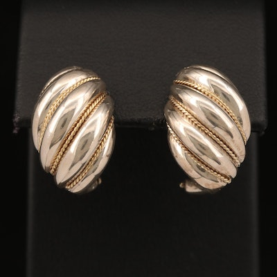 Tiffany & Co. Sterling Silver Shrimp Earrings with 18K Accents
