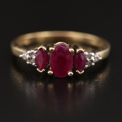10K Ruby and Diamond Ring
