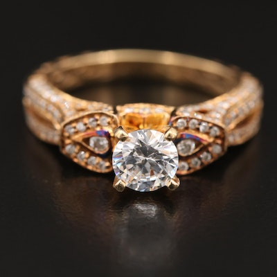 18K Diamond Semi-Mount Ring