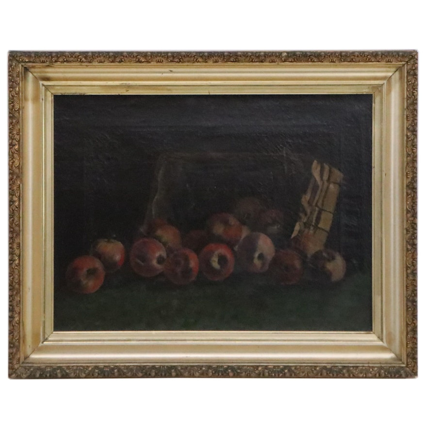 Still Life Oil Painting of Apples in the Style of Albert Francis King
