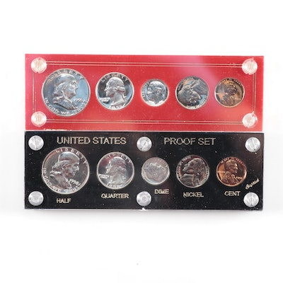 1955 and 1958 U.S. Type Coin Proof Sets
