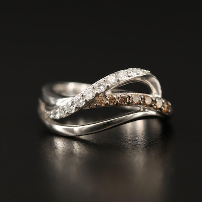 Le Vian 14K Diamond Crossover Band