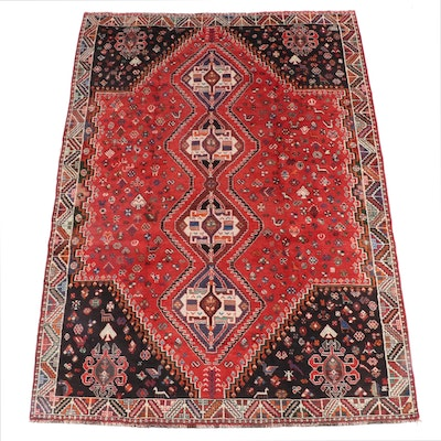7'9 x 10'8 Hand-Knotted Persian Abadeh Wool Rug