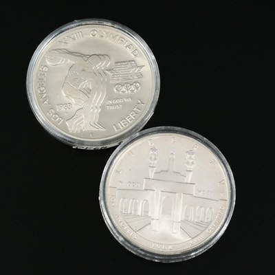 1983 and 1984 US Mint Olympic Commemorative Silver Dollars