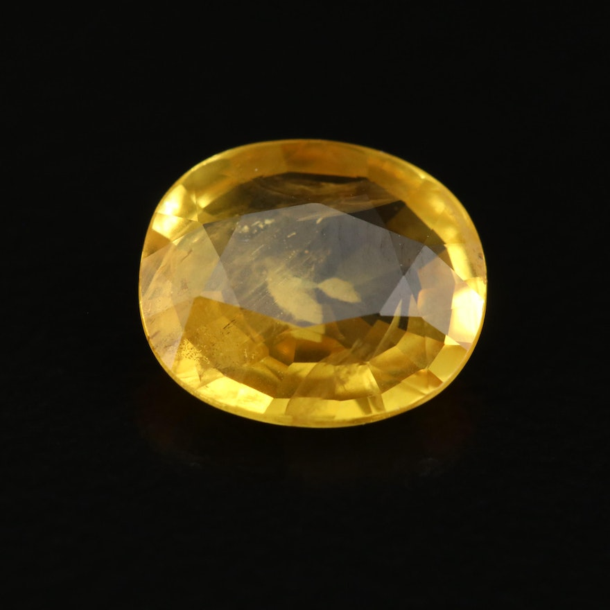 Loose 2.03 CT Oval Faceted Sapphire with GIA Report