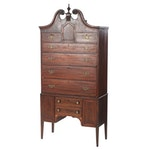 Mahogany High Boy Chest, Early 19th Century