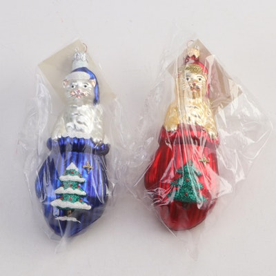 "Patricia Breen Designs ""Kitten in Mitten"" Ornaments, 1990s"
