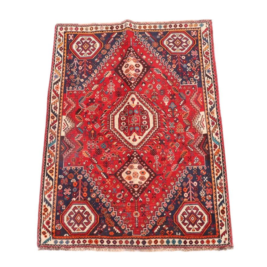 4'2 x 5'7 Hand-Knotted Caucasian Borchalu Wool Rug