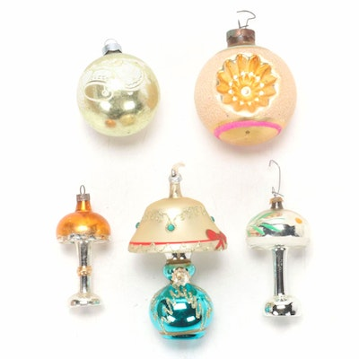Blown Glass Christmas Tree Ornaments, Early to Mid 20th Century