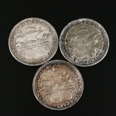 1893 World's Columbian Exposition Commemorative Silver Half Dollars