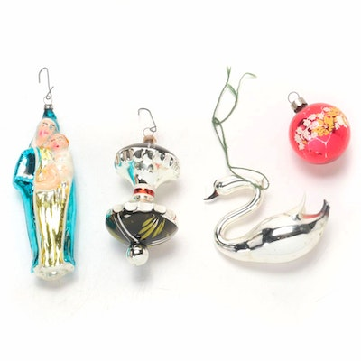 Glass Christmas Tree Ornaments, Late 19th/Early 20th C