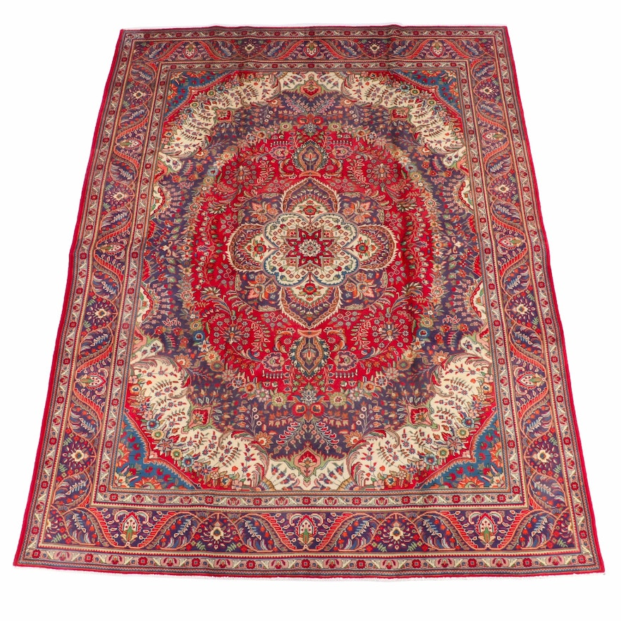 9'10 x 12'10 Hand-Knotted Persian Ahar Wool Rug