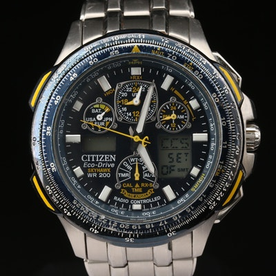 Citizen Skyhawk Eco - Drive Stainless Steel Wristwatch