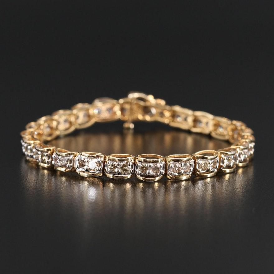 10K 4.50 CTW Diamond Line Bracelet