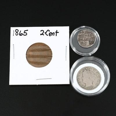 Three Antique US Coins