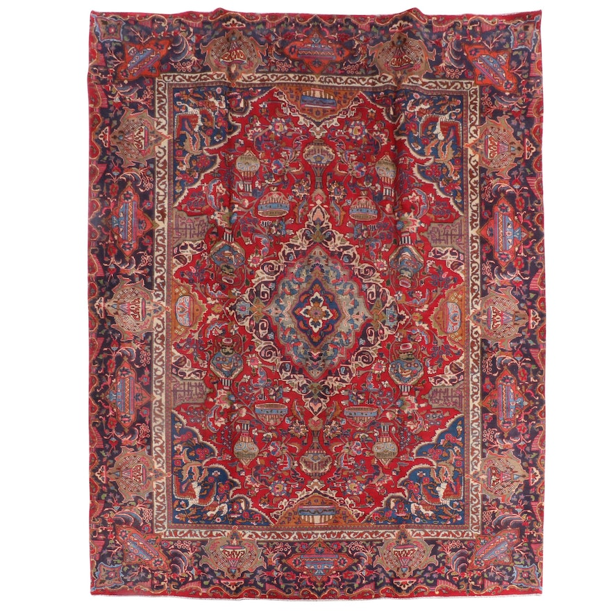 9'8 x 12'8 Hand-Knotted Persian Fereghan Wool Rug