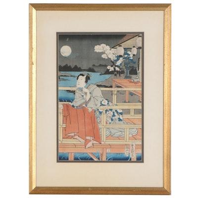 Utagawa Kunisada Woodblock, Mid-19th Century