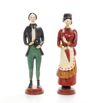 Italian Hand-Painted Wooden Statuettes