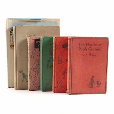 "Collection of ""Winnie the Pooh"" Books, Early to Mid 20th Century"