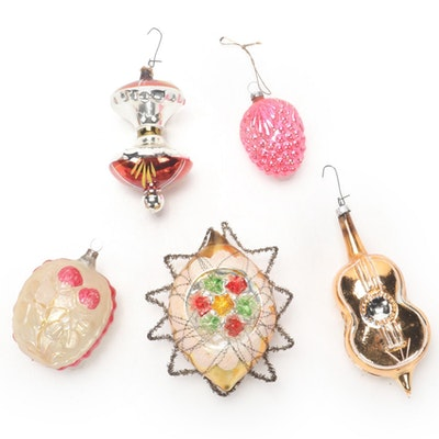 Glass Christmas Tree Ornaments, Early 20th Century