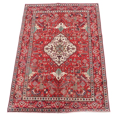 6'5 x 9'6 Hand-Knotted Caucasian Borchalu Wool Rug