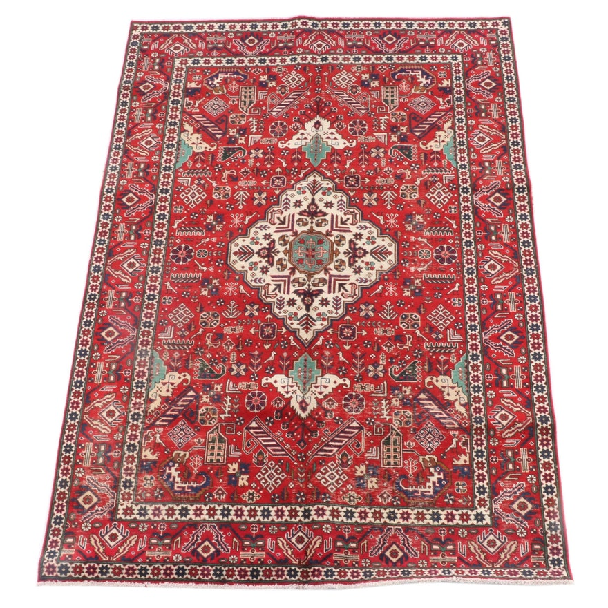 6'5 x 9'6 Hand-Knotted Caucasian Borchalu Wool Rug