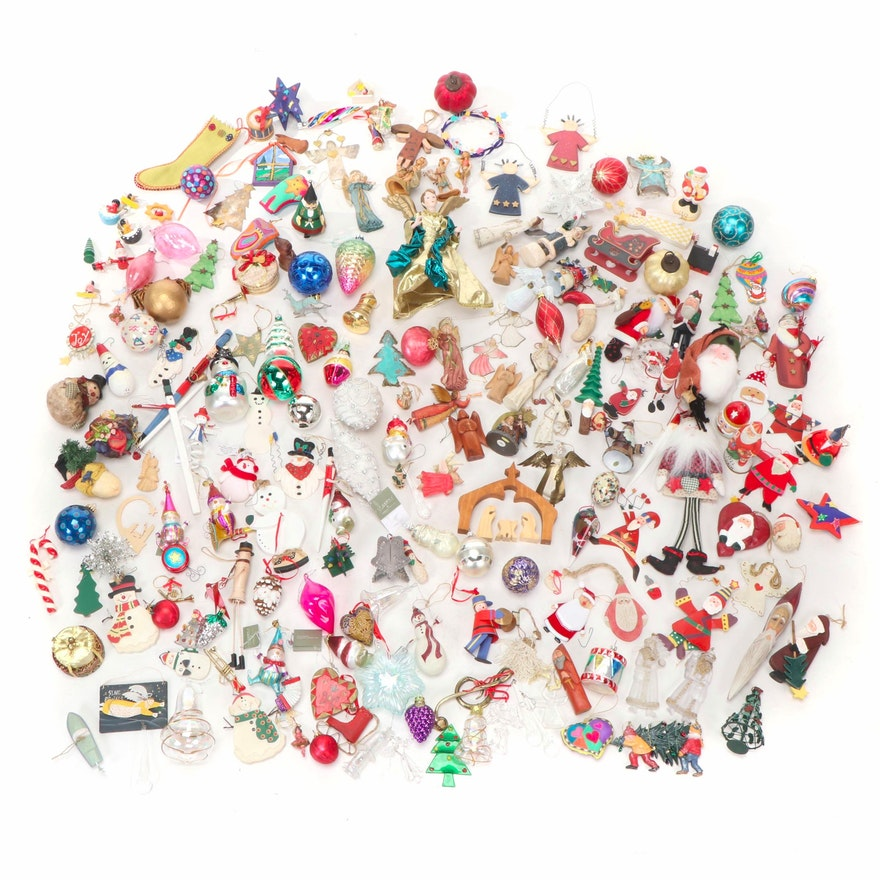 Wood, Resin, Metal, Glass and More Christmas Ornament Assortment