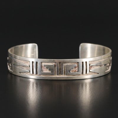 Artisan Signed Sterling Silver Cuff