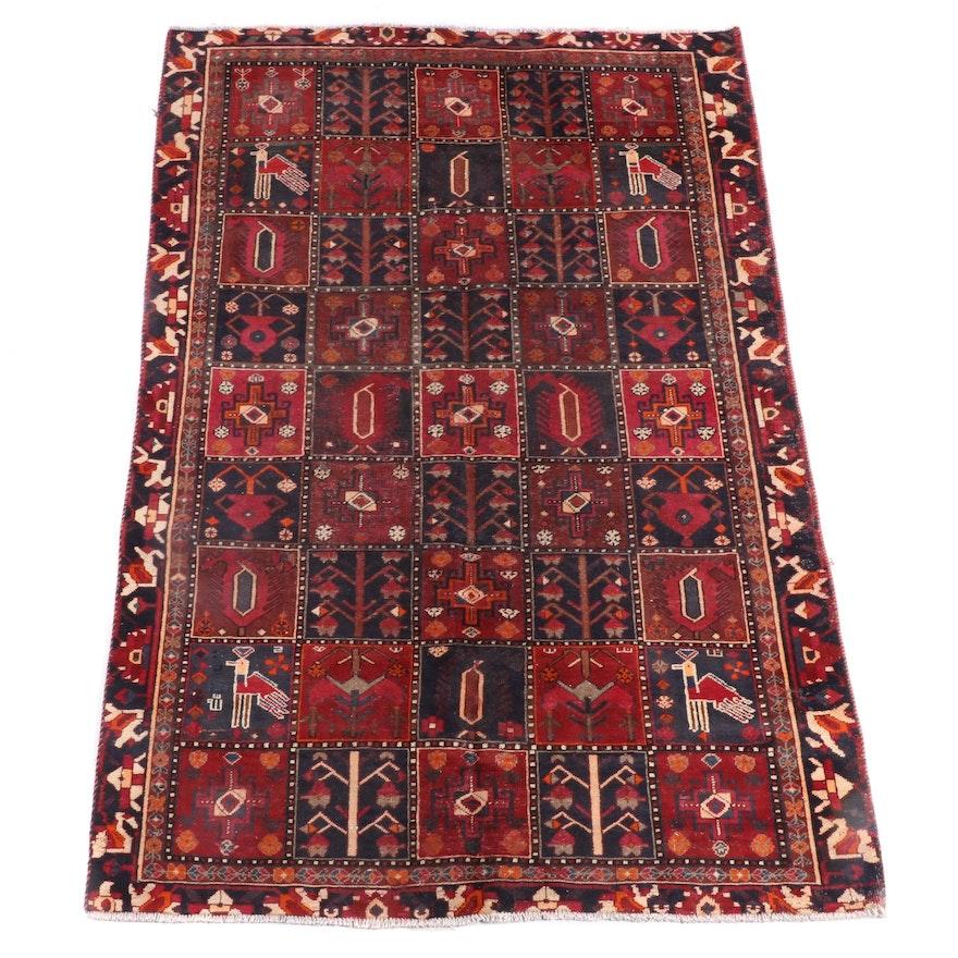 6'1 x 9'1 Hand-Knotted Persian Bakhtiari Wool Rug