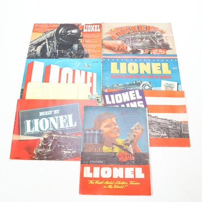 Lionel Train Annual Catalogs 1937 through 1942, and 1946