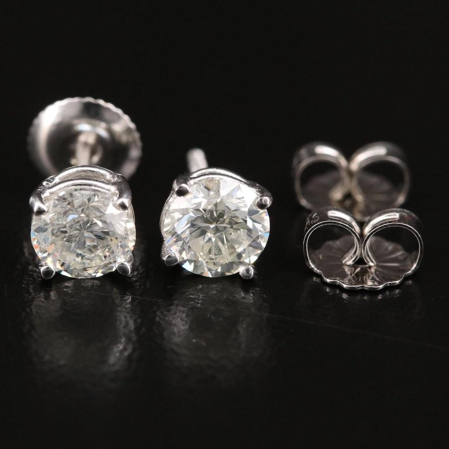 14K 1.34 CTW Diamond Stud Earrings
