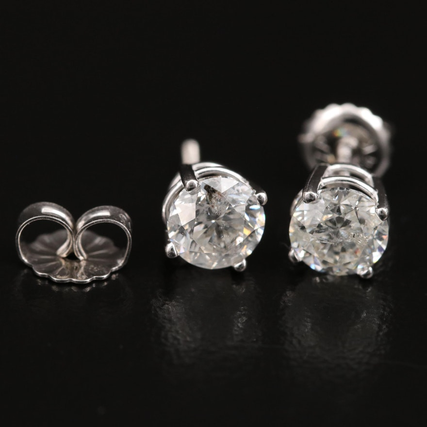 14K 1.40 CTW Diamond Stud Earrings
